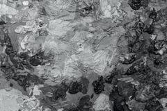 olje- målarfärger för konstnärer på träpaletten Arkivbild