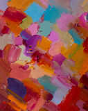 Olje- målning för färgrikt originalabstrakt begrepp, bakgrund arkivbild