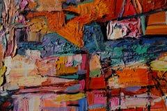 Olje- målning för textur Arkivbild