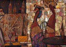 Olje- målning för textur författare som målar Roman Nogin Arkivbild
