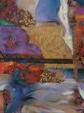 Olje- målning för textur, målning Roman Nogin författare Arkivfoton