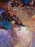 Olje- målning för textur, målning Roman Nogin författare Arkivfoto