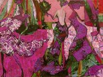 Olje- målning för textur vara upphovsman till Roman Nogin, samtal för ` s för serie`-kvinnor `, Royaltyfria Foton