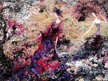 Olje- målning för textur vara upphovsman till Roman Nogin, samtal för ` s för serie`-kvinnor ` version för författare` s av färg Royaltyfri Foto