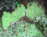 Olje- målning för textur vara upphovsman till Roman Nogin, samtal för ` s för serie`-kvinnor ` version för författare` s av färg Royaltyfri Bild