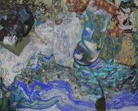 Olje- målning, konstnär Roman Nogin, serie`-kvinnors samtal `, Fotografering för Bildbyråer