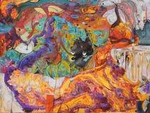 Olje- målning, konstnär Roman Nogin, serie`-kvinnors samtal `, Royaltyfria Foton