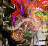 Olje- målning på exponeringsglas arkivfoto