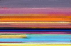 Olje- målningar för modern konst med guling, röd färg Abstrakt samtida konst för bakgrund royaltyfri fotografi
