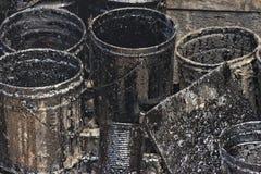 Olje- oljatrummavals Arkivbild