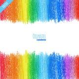 Olje- pastellfärgad regnbågebakgrund Royaltyfria Bilder