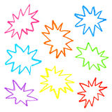 Olje- pastellfärgade färgrika anförandebubblor Royaltyfria Foton