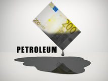 Olje- pengar Arkivfoton