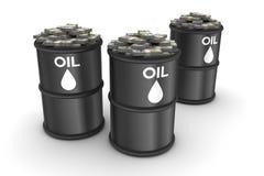Olje- pengar Arkivbilder