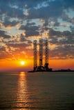 Olje- plattform Fotografering för Bildbyråer
