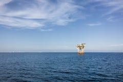 Olje- plattform Arkivfoto
