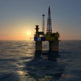 Olje- plattform på havet arkivfoton
