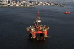 Olje- plattform SS77 royaltyfri foto