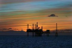 Olje- plattformar i Nordsjön Royaltyfria Foton