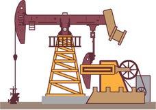 Olje- pumpa rigg vektor illustrationer