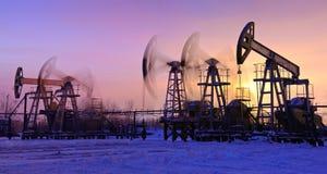 Olje- pumpar Arkivbild