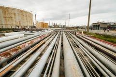Olje- rör Arkivbilder