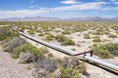 Olje- rörledning Arkivbild