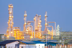 Olje- raffinaderiväxt fotografering för bildbyråer