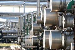 Olje- rafinery Arkivfoto