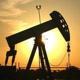 Olje- Rig Sunset Royaltyfri Foto