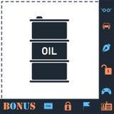 Olje- symbolsl?genhet f?r trumma vektor illustrationer