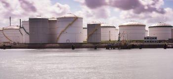 Olje- terminal Arkivfoto