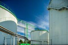 Olje- terminal, lagring och infrastruktur, rörledningar Fotografering för Bildbyråer