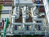 Olje- terminal, lagring och infrastruktur, rörledningar Royaltyfria Foton