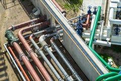 Olje- terminal, lagring och infrastruktur, rörledningar Royaltyfri Foto