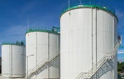 Olje- terminal, lagring och infrastruktur, rörledningar Royaltyfria Bilder