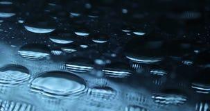 Olje- textur i vattnet arkivfilmer
