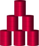 Olje- trumma stock illustrationer