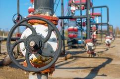 Olje- ventil Arkivbilder