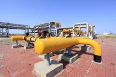 Oljefältutrustning Arkivbild