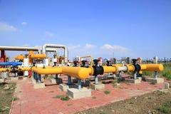 Oljefältutrustning Royaltyfri Bild