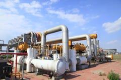 Oljefältutrustning Royaltyfria Bilder