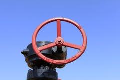 Oljefältventiler Arkivbild