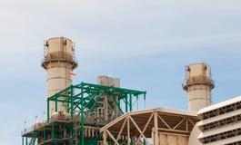 Oljeindustri - raffinaderifabrik Fotografering för Bildbyråer