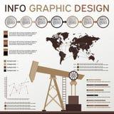 Oljeindustribeståndsdelar Informationsdiagramuppsättning Shoppa etiketter och symboler Arkivbilder