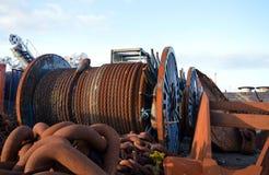 Oljeindustrirestmetall, Aberdeen, Skottland Royaltyfria Bilder