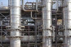 Oljeindustriutrustninginstallation Arkivfoto