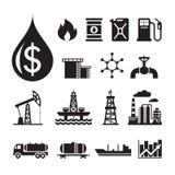 16 oljeindustrivektorsymboler för infographic, affärspresentation, häfte och olikt designprojekt Royaltyfria Bilder