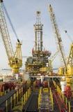 Oljeplattform Arkivfoto
