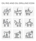 Oljeplattformsymbol Arkivfoton